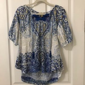 Live and Let Live 1/2 Sleeve Blouse Top Tassels